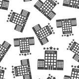 Предпосылка картины гостиницы безшовная Illustra вектора дела плоское Стоковое Фото