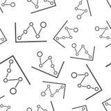 Предпосылка картины диаграммы дела безшовная Вектор дела плоский Стоковые Изображения