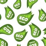 Предпосылка картины дружелюбных зеленых лист Eco безшовная Дело fl Стоковые Фото
