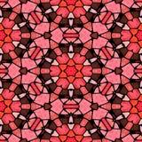Предпосылка картины калейдоскопа мозаики безшовная - клубника красная, maroon и коричневое покрашенное с черным grout бесплатная иллюстрация