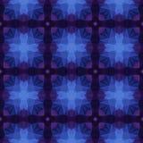 Предпосылка картины калейдоскопа мозаики безшовная - королевская покрашенная синь, темный пурпур, фиолет и чернота Стоковое Изображение
