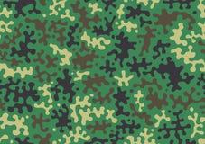 Предпосылка картины камуфлирования Печать повторения camo классического стиля одежды маскируя Зеленая коричневая черная оливка кр бесплатная иллюстрация