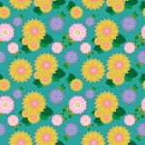 Предпосылка картины красивого цветка безшовная иллюстрация штока