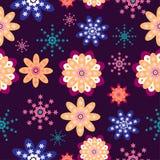 Предпосылка картины красивого цветка безшовная иллюстрация вектора
