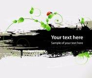 Предпосылка, картины, листья и ladybird Grunge Стоковые Фотографии RF