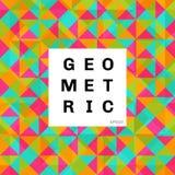 Предпосылка картины мозаики конспекта геометрическая красочная треугольники и квадратный яркий цвет иллюстрация вектора