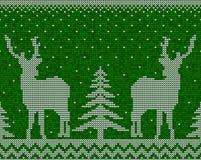 Предпосылка картины рождества безшовная с оленями бесплатная иллюстрация