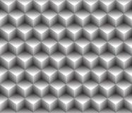 предпосылка картины серого кубического конспекта контура 3d геометрическая безшовная Стоковые Изображения