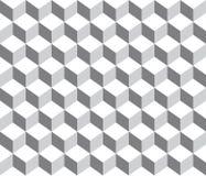 Предпосылка картины серых кубов конспекта контура геометрических безшовная Стоковые Фото