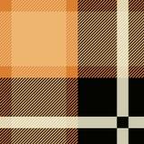 Предпосылка картины тартана безшовная Черная и бежевая шотландка, картины рубашки фланели тартана Ультрамодный вектор плиток иллюстрация вектора