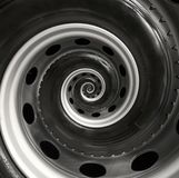 Предпосылка картины фрактали спирали конспекта колеса тележки автомобиля Предпосылка повторяющийся автомобиля автомобильная спира Стоковое Изображение