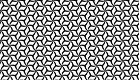 Предпосылка картины цветка вектора безшовная черно-белая геометрическая бесплатная иллюстрация