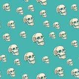 Предпосылка картины человеческого черепа безшовная иллюстрация штока