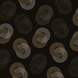 Предпосылка картины элегантного круга яркого блеска золота безшовная иллюстрация штока