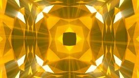 Предпосылка картины ювелирных изделий золота калейдоскопа перевод 3d сток-видео