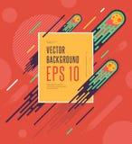 Предпосылка комет космоса Minimalistic красочная геометрическая Vector дизайн для вашего искусства, крышки, открытки, рогульки, п Иллюстрация вектора