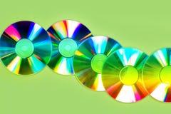 Предпосылка компакт-дисков или dvds стоковые изображения rf