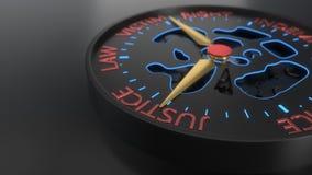 Предпосылка компенсации и судебного процесса compass концепция, перевод 3d Стоковые Фото