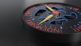 Предпосылка компенсации и судебного процесса compass концепция, перевод 3d Стоковая Фотография RF