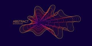 Предпосылка конспекта вектора с динамическими волнами, линией и частицами бесплатная иллюстрация