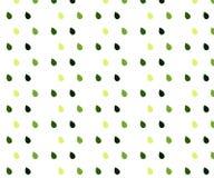 Безшовная картина вектора с падениями дождя Предпосылка конспекта весны в тенях зеленого цвета иллюстрация вектора