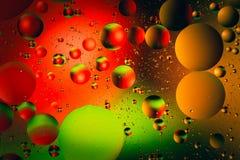 Предпосылка конспекта вселенной космоса или планет Абстрактное sctructure молекулы вода пузырей ванны предпосылки голубая Макрос  Стоковая Фотография
