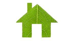 Предпосылка конспекта концепции значка дома Eco Стоковые Изображения RF