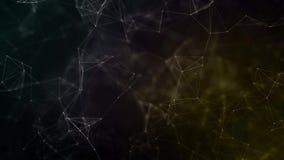 Предпосылка конспекта красивая геометрическая Абстрактный футуристический, полигональный космос с темной предпосылкой Фантазия пл иллюстрация вектора