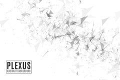 Предпосылка конспекта плекса для вашего дизайна Современная футуристическая геометрия Треугольники летая изолированные на белой п стоковые изображения