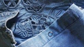 Предпосылка конспекта ткани джинсовой ткани стоковое фото