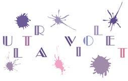 Предпосылка конспекта цвета вектора ультрафиолетов Стоковые Изображения