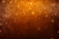 Предпосылка конспекта bokeh оранжевой звезды bokeh голубая иллюстрация штока