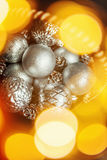 Предпосылка конспекта Christmass в золотых тонах Стоковое Изображение RF