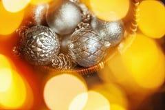 Предпосылка конспекта Christmass в золотых тонах Стоковые Изображения