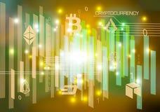 Предпосылка конспекта cryptocurrency вектора в цвете золота бесплатная иллюстрация