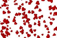 Предпосылка конспекта 3D дня Валентайн с красным сердцем случайно помещаемым на белизне бесплатная иллюстрация