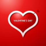 Предпосылка конструкции карточки дня Valentines Стоковое Изображение