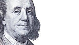 Предпосылка конца денег вверх долларовой банкноты Стоковая Фотография RF