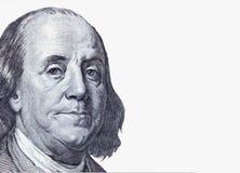 Предпосылка конца денег вверх долларовой банкноты Стоковые Изображения