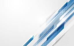 Предпосылка концепции высокой технологии абстрактной голубой геометрической технологии движения цифровая Стоковое Изображение