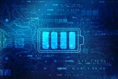 Предпосылка концепции поставки батареи, концепция выхода по энергии стоковые фото