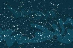 Предпосылка космоса мультфильма с яркими звездами Иллюстрация вектора неба ночи звездная иллюстрация штока
