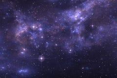 Предпосылка космоса неба звездной ночи с межзвёздным облаком Бесплатная Иллюстрация