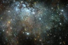 Предпосылка космоса с межзвёздным облаком и звездами Стоковые Фотографии RF