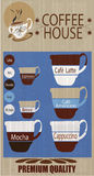 Предпосылка кофейни иллюстрация вектора