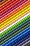 предпосылка красит карандаши Стоковая Фотография