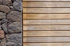 предпосылка красит стену grunge каменную каменная и деревянная стена, деревянная текстура как предпосылка Деревянная стена предпо Стоковое фото RF