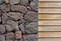 предпосылка красит стену grunge каменную каменная и деревянная стена, деревянная текстура как предпосылка Деревянная стена предпо Стоковое Изображение RF