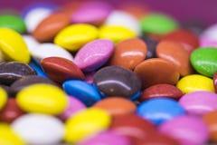 Предпосылка красочных падений конфеты Стоковая Фотография RF