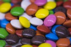 Предпосылка красочных падений конфеты Стоковые Фото